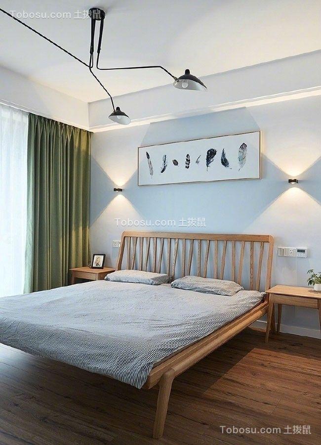 卧室 窗帘_92平北欧风格小户型装修效果图