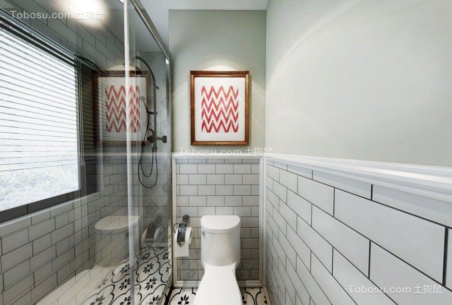 卫生间米色背景墙北欧风格装修设计图片