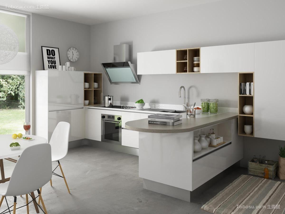 厨房白色橱柜欧式风格效果图