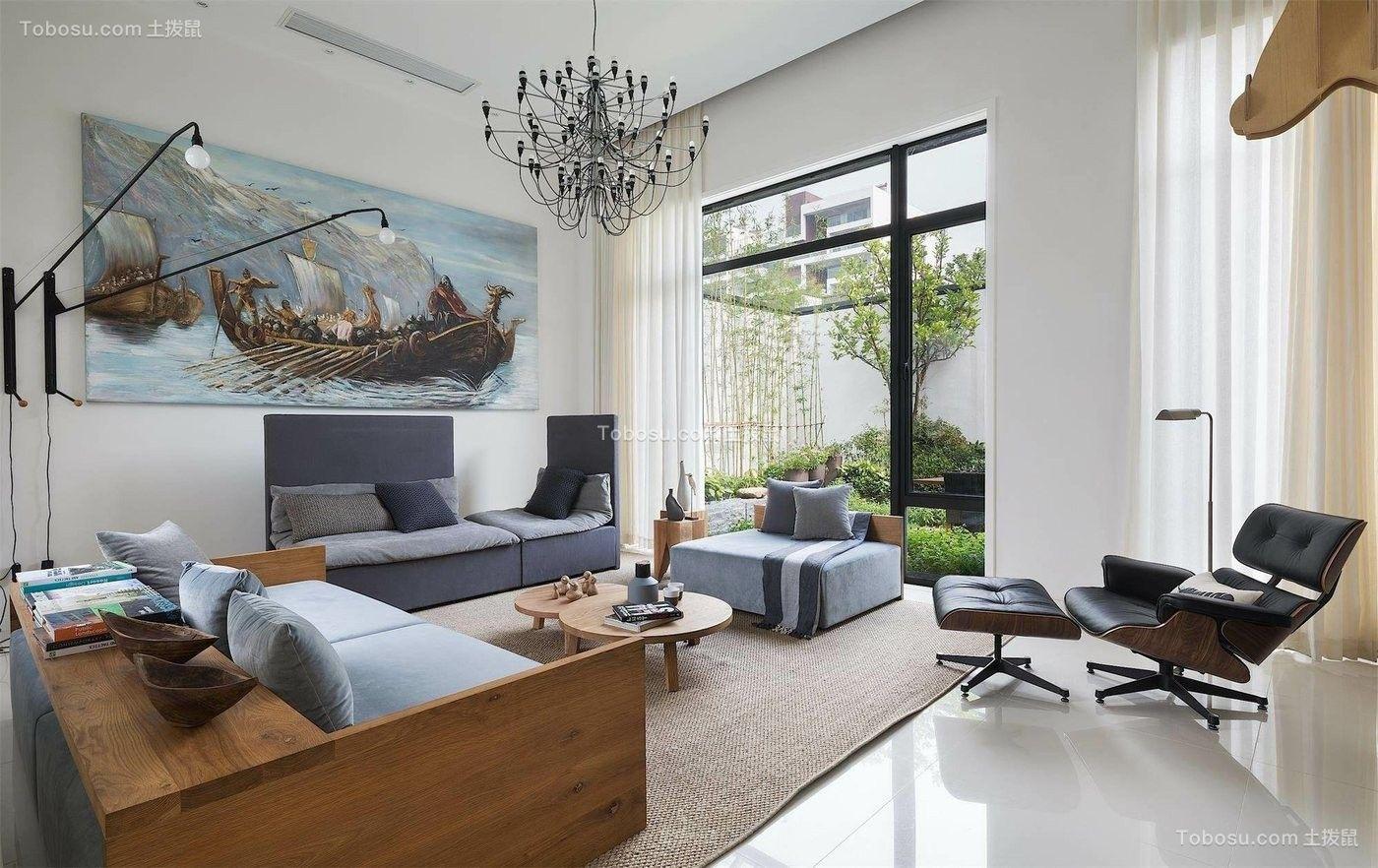 89平简单风格两居室装修效果图