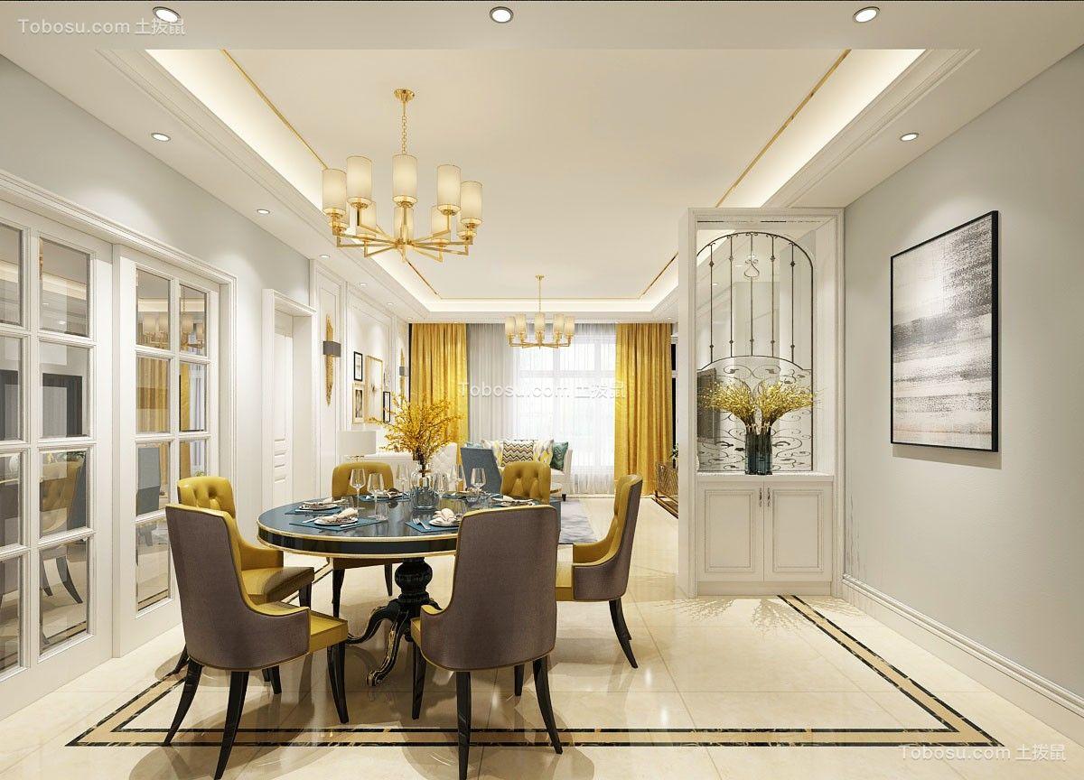 混搭风格120平米楼房室内装修效果图