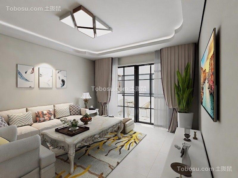 简约风格9平米三室两厅新房装修效果图