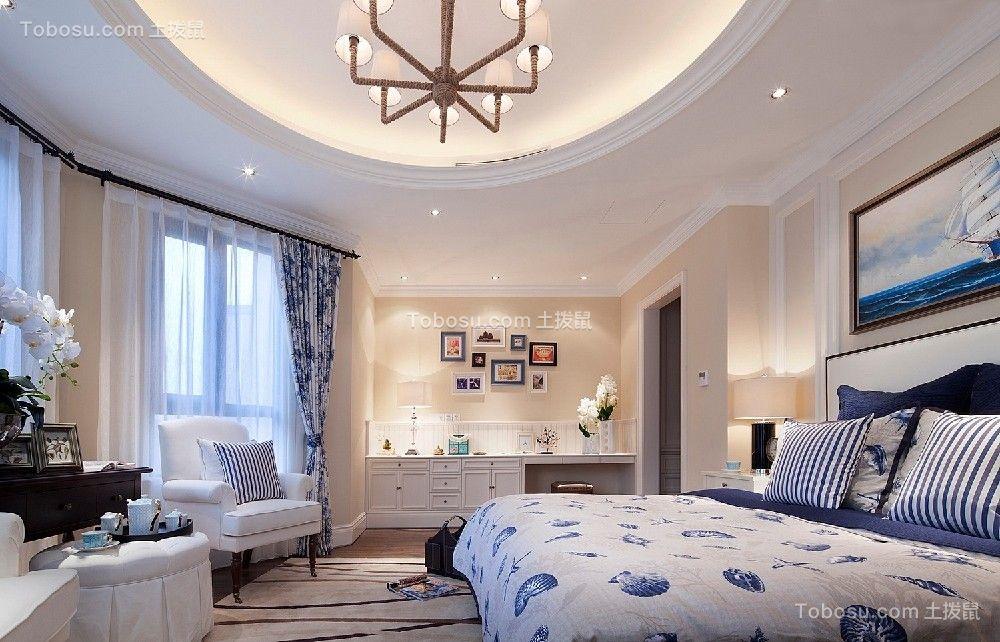 卧室白色床简欧风格装修设计图片