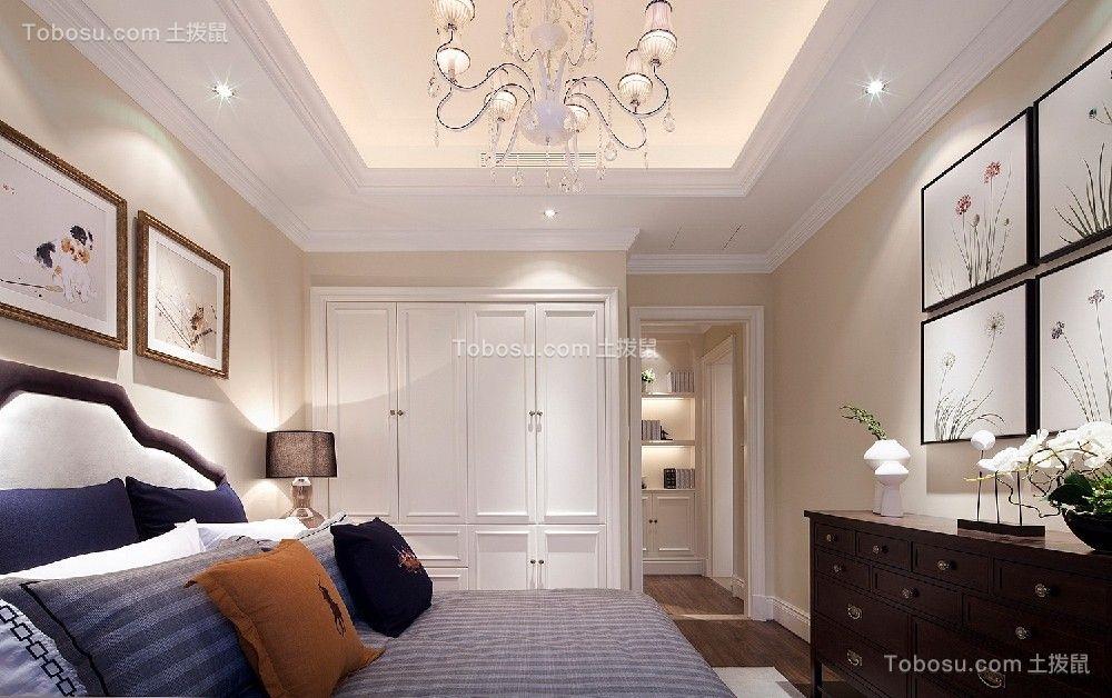 卧室白色衣柜简欧风格装潢设计图片