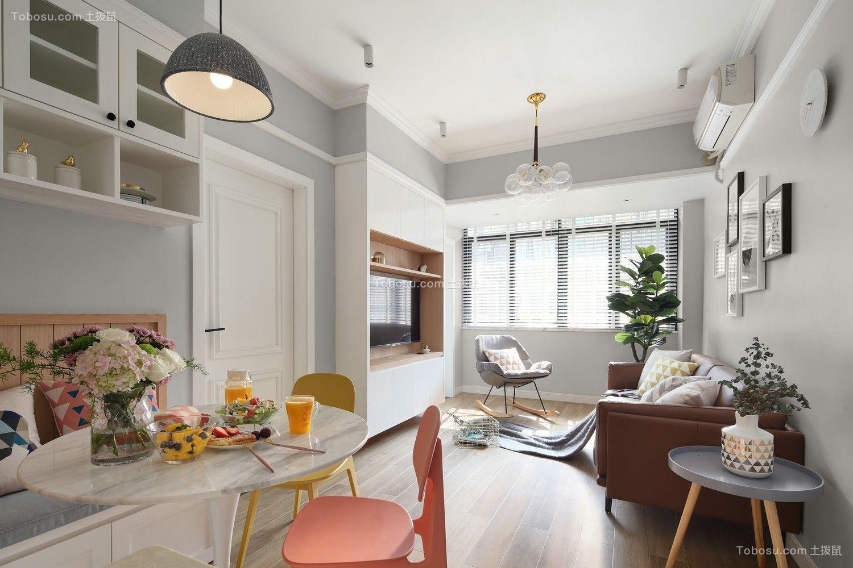 客厅 地砖_63平北欧风格小户型装修效果图