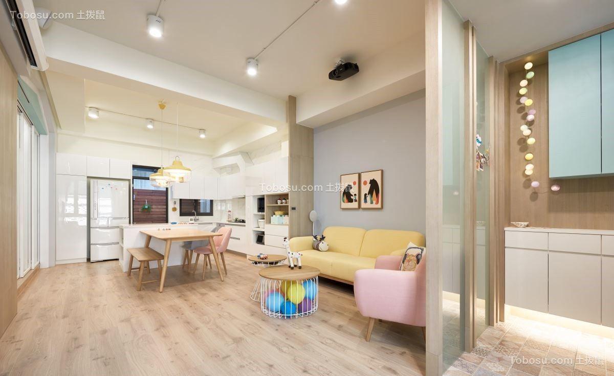 77平北欧风格一居室装修效果图