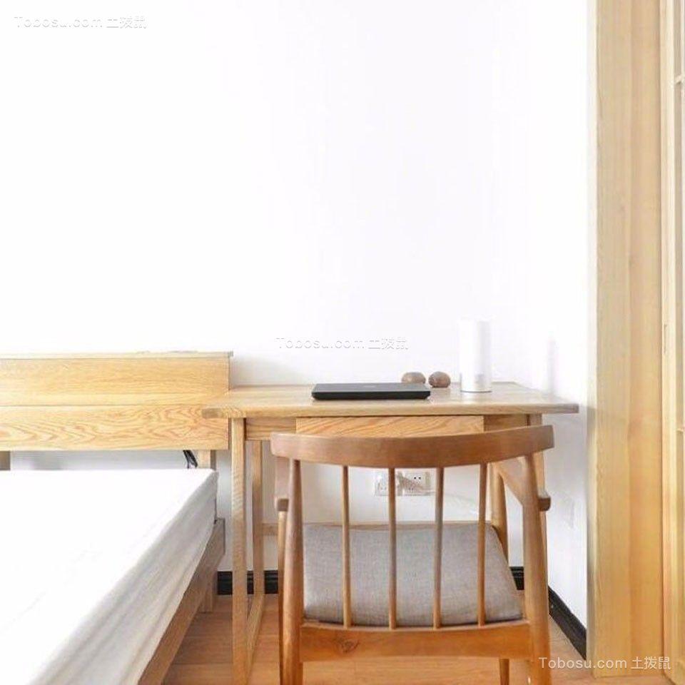 卧室黄色书桌简约风格装饰效果图