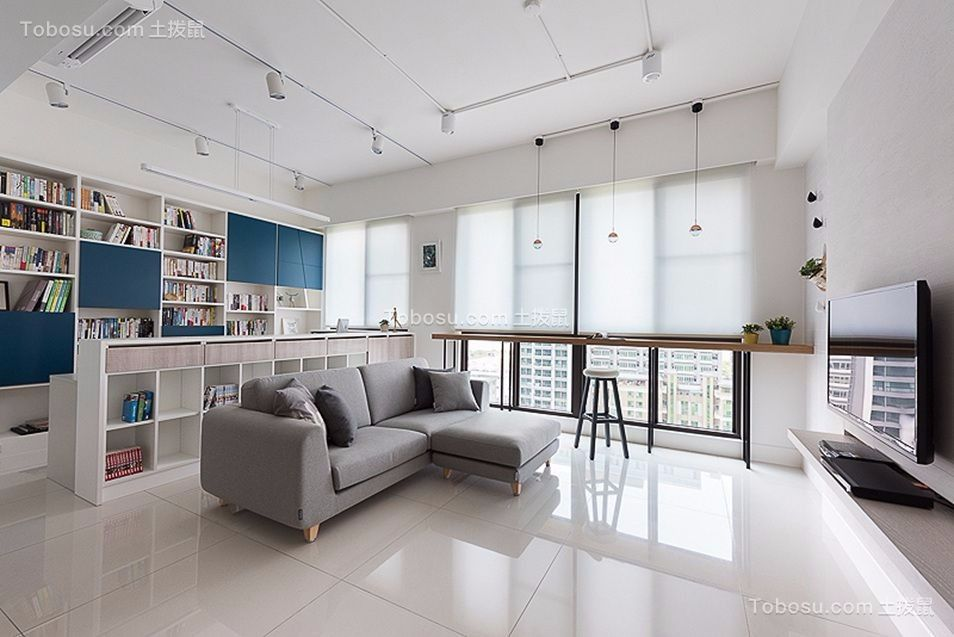 82平现代简约风格三室两厅装修效果图
