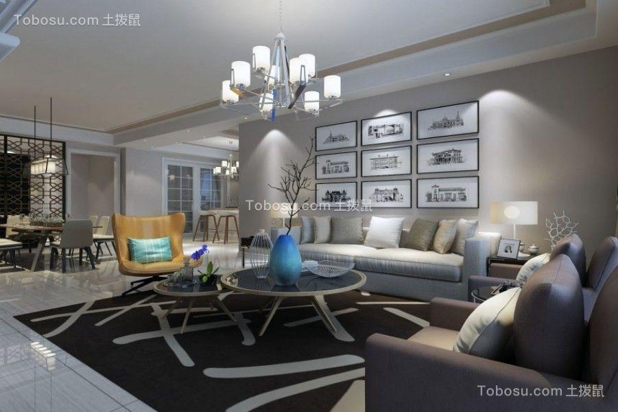 262平现代简约风格三居室装修效果图