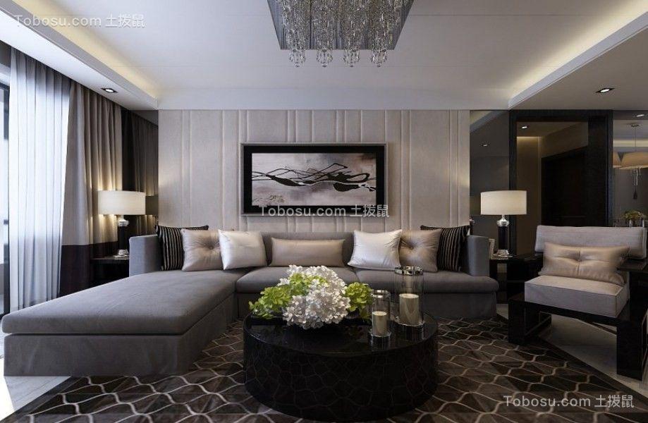 137平现代风格两居室装修效果图