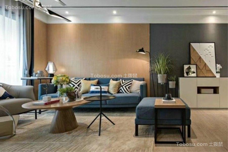 86平现代简约风格两居室装修效果图