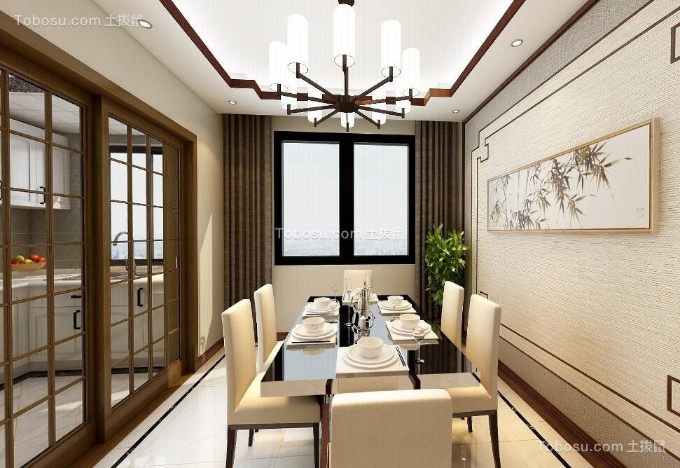 92平新中式风格三居室装修效果图