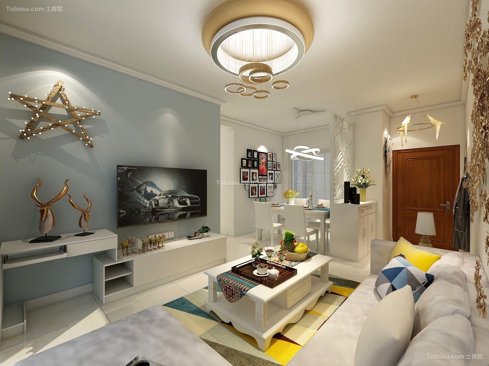 100平现代风格两居室装修效果图