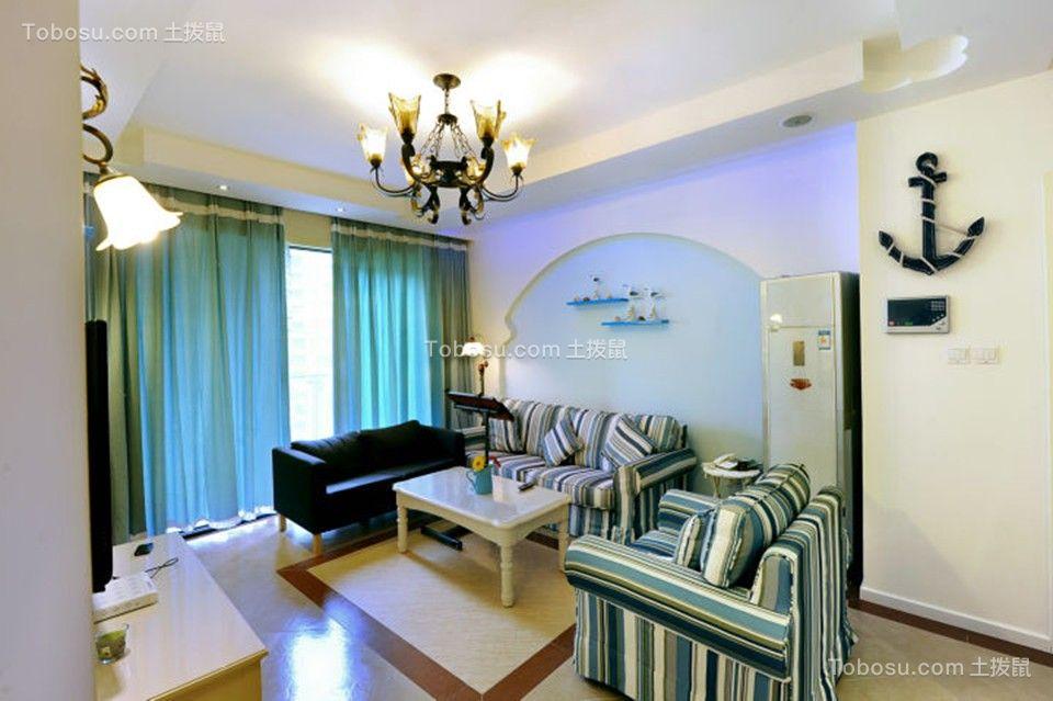 102平地中海风格三居室装修效果图