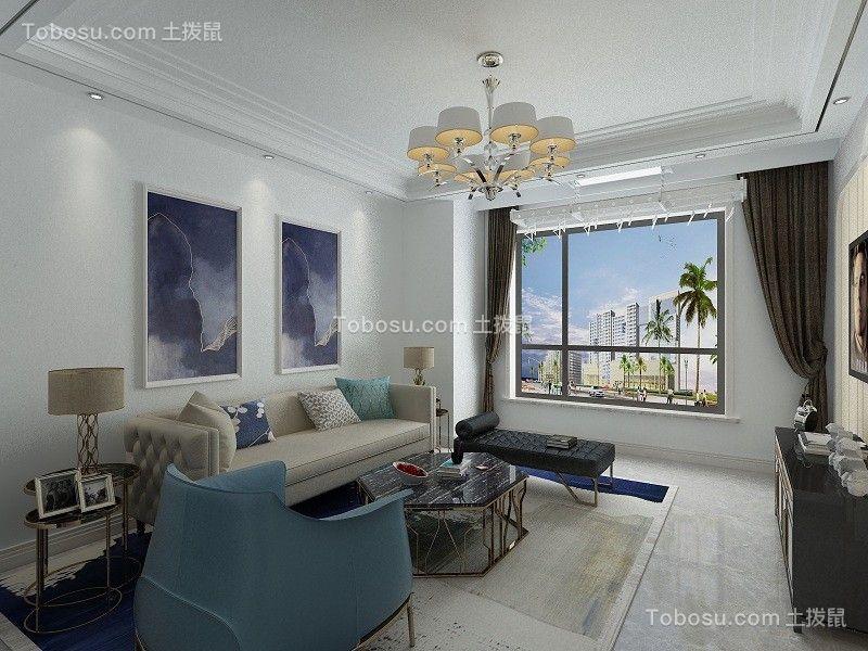 143平后现代风格三室两厅装修效果图