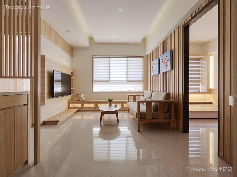 160平日式风格三居室装修效果图