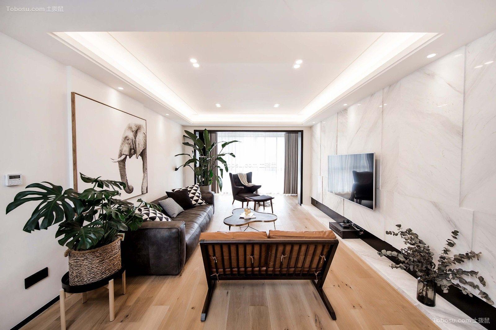 140平北欧风格公寓装修效果图