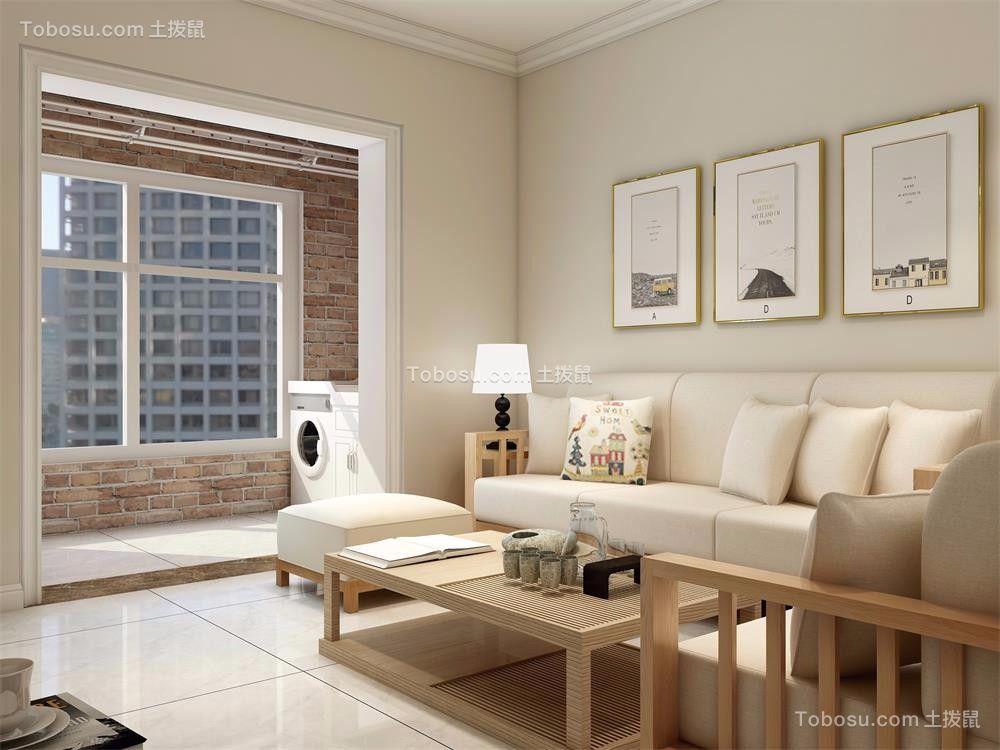 100平日式风格两室一厅装修效果图