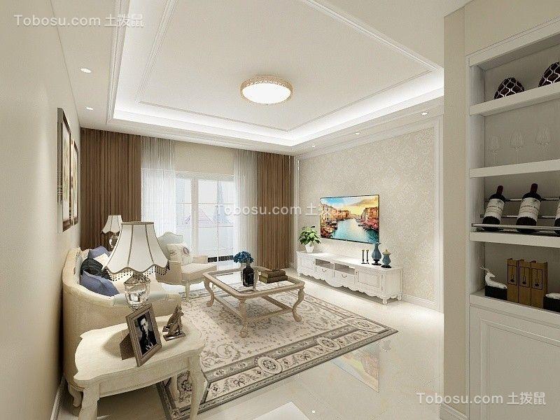 120平简欧风格公寓装修效果图