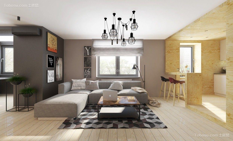 117平北欧风格三居室装修效果图