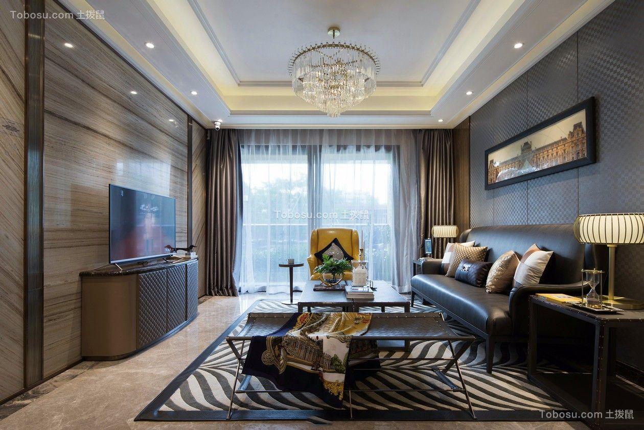 101平美式风格三居室装修效果图