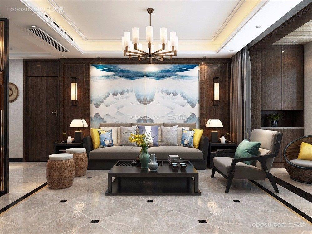 179平新中式风格四居室装修效果图