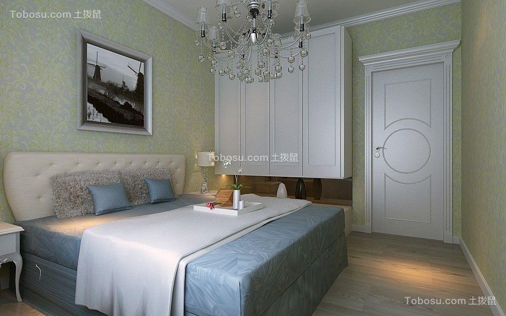 卧室白色衣柜欧式风格装潢设计图片