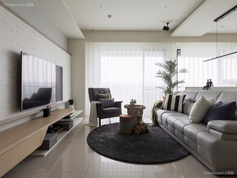 102平北欧风格两居室装修效果图