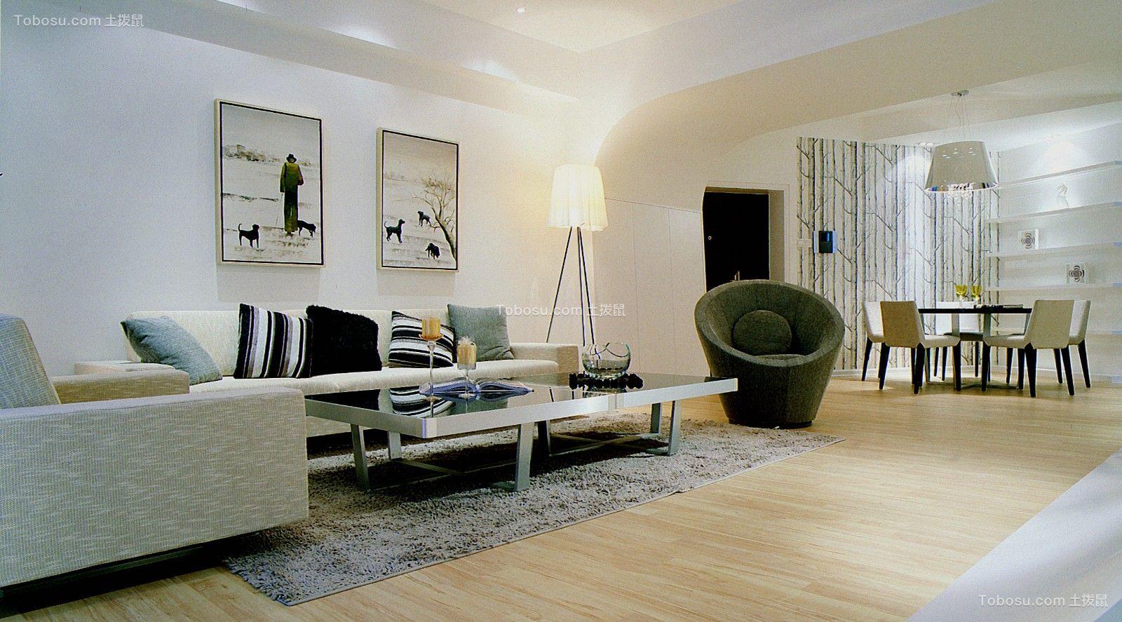 109平简约风格两居室装修效果图