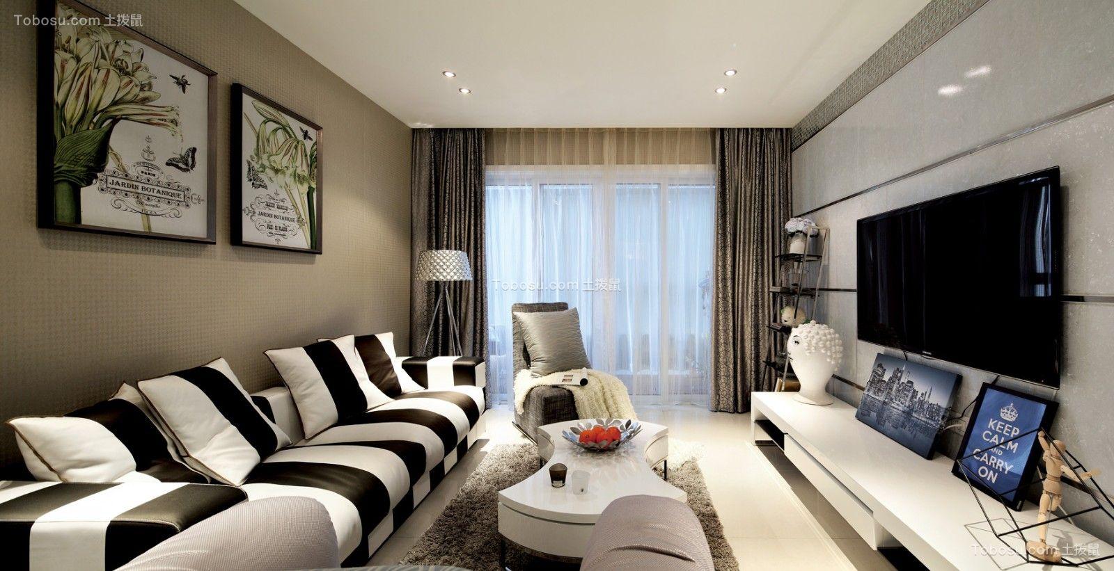 145平现代风格三居室装修效果图