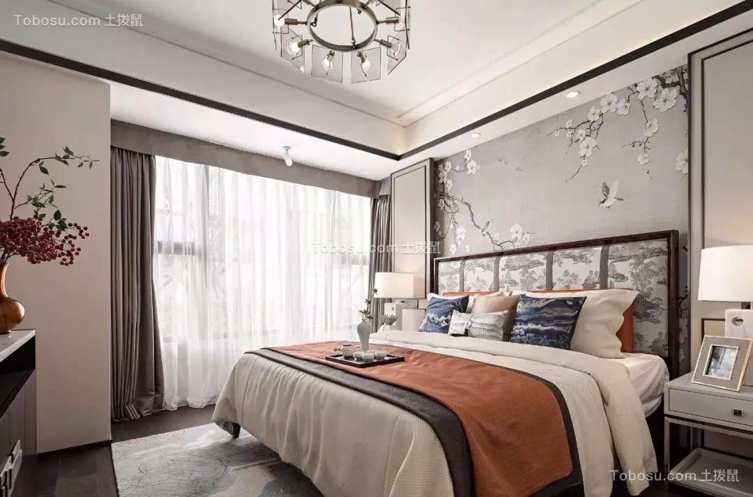 134平米新中式,淡雅屏风分隔客厅