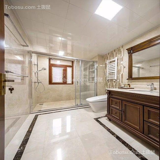 浴室咖啡色洗漱台新古典风格效果图