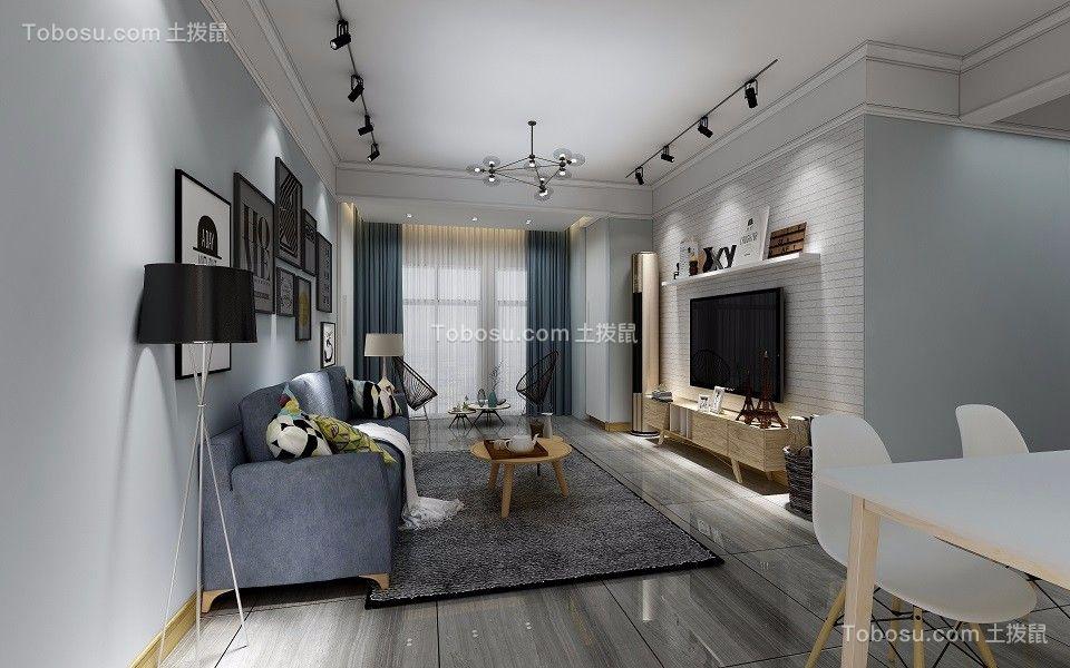 109平简约风格三居室装修效果图