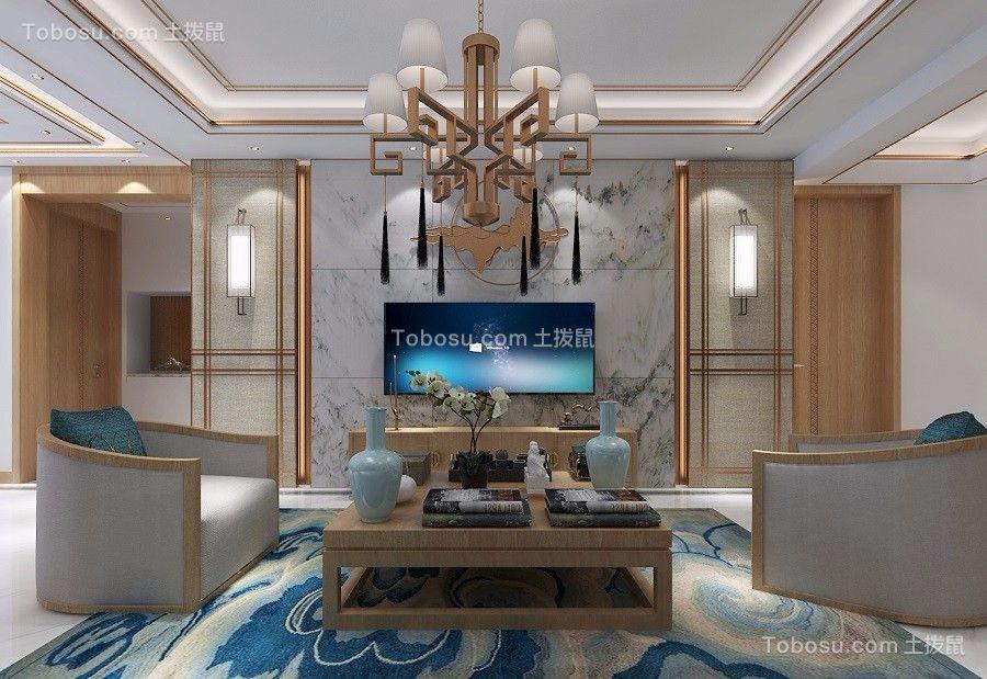 147平新中式风格三居室装修效果图
