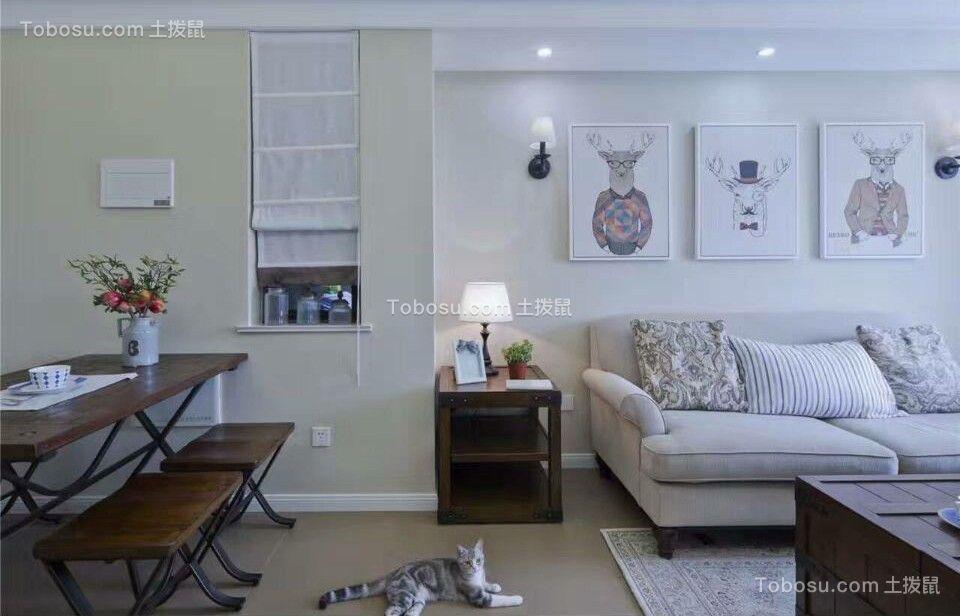 71平北欧风格两居室装修效果图