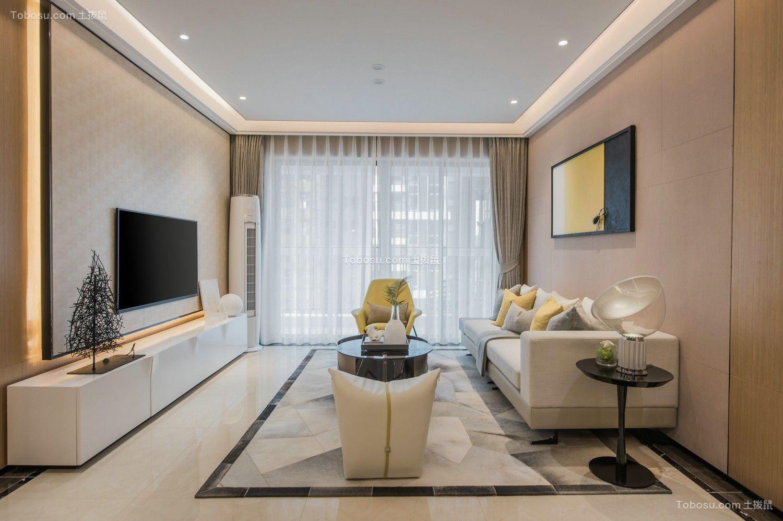 108平现代风格三居室装修效果图