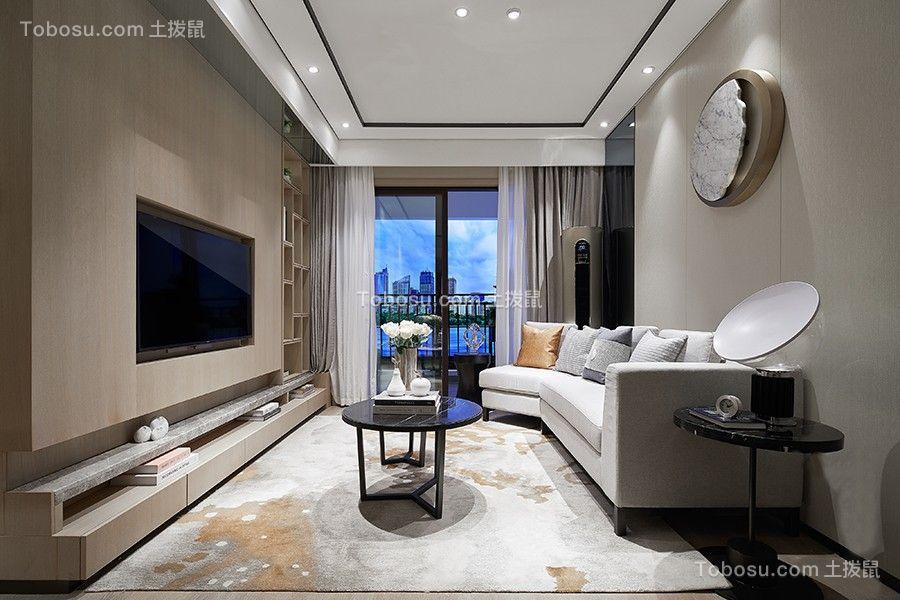 105平现代风格三居室装修效果图