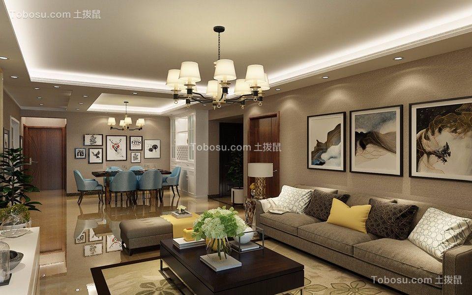 144平现代风格四居室装修效果图