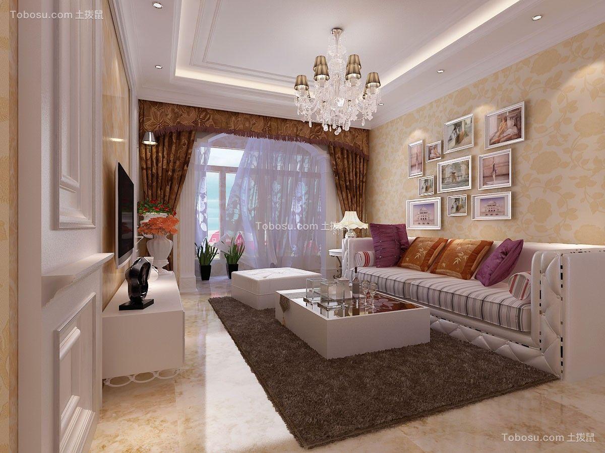 117平欧式风格套房装修效果图
