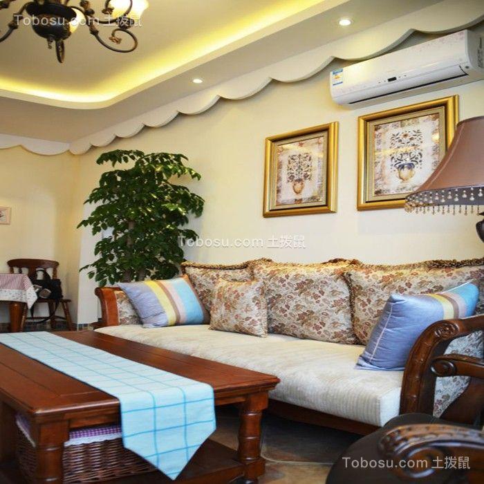 武汉百瑞景中央生活区90平米美式风格效果图