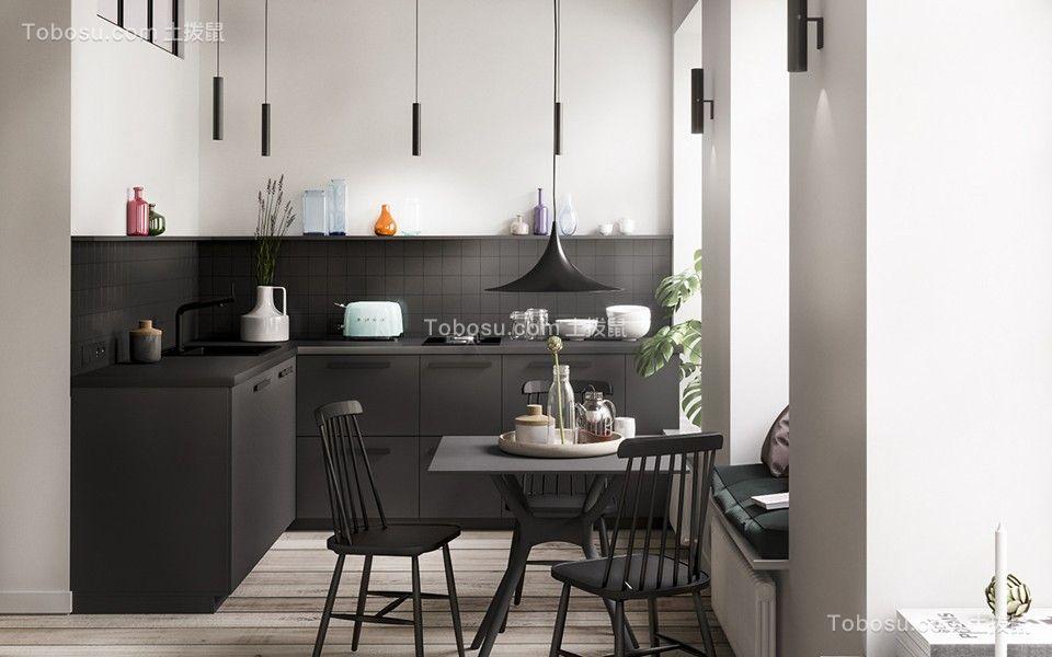 45平北欧风格一居室装修效果图