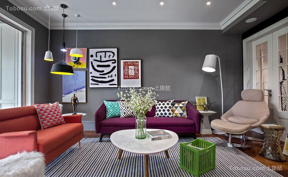 117平混搭风格三居室装修效果图