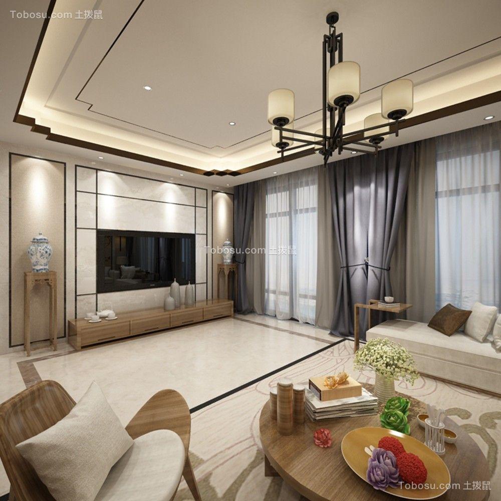 140平新中式风格套房装修效果图