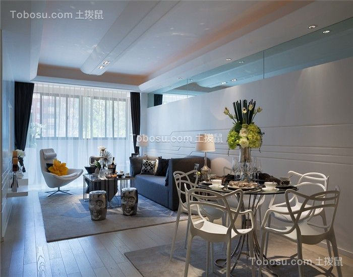 南京托乐嘉街区125平米现代风格效果图