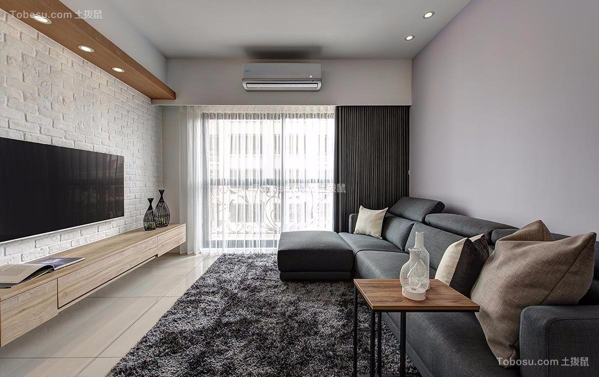 89平北欧风格三居室装修效果图