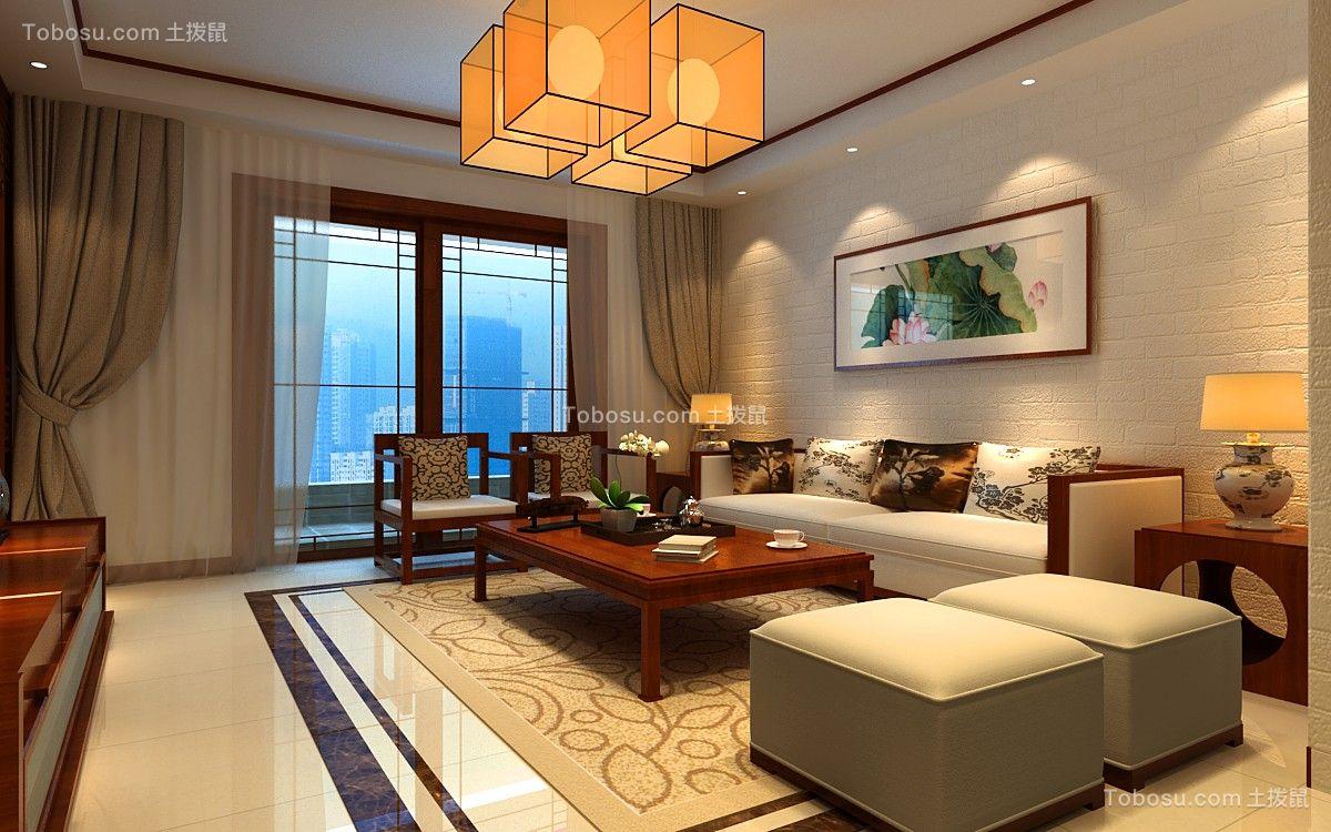 166平中式风格四居室装修效果图