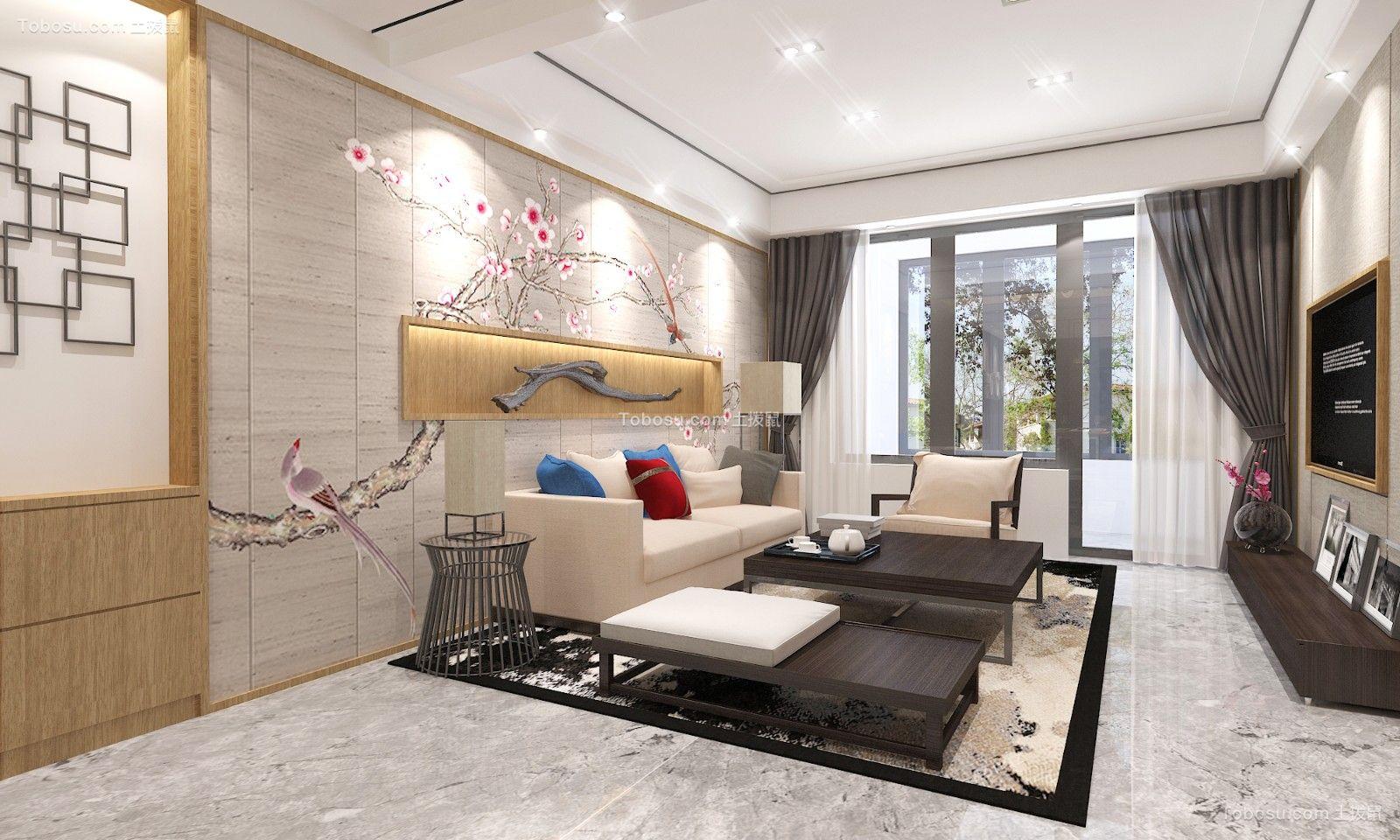 162平新中式风格三居室装修效果图