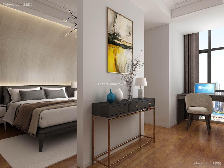 卧室白色隔断现代风格装饰效果图