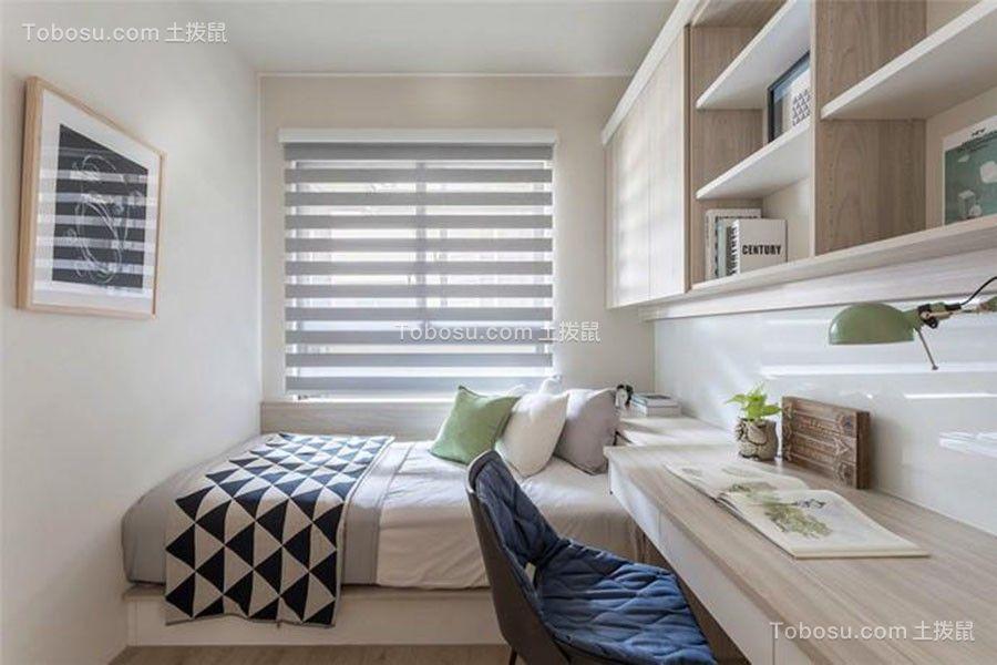 卧室米色书桌简欧风格装饰效果图