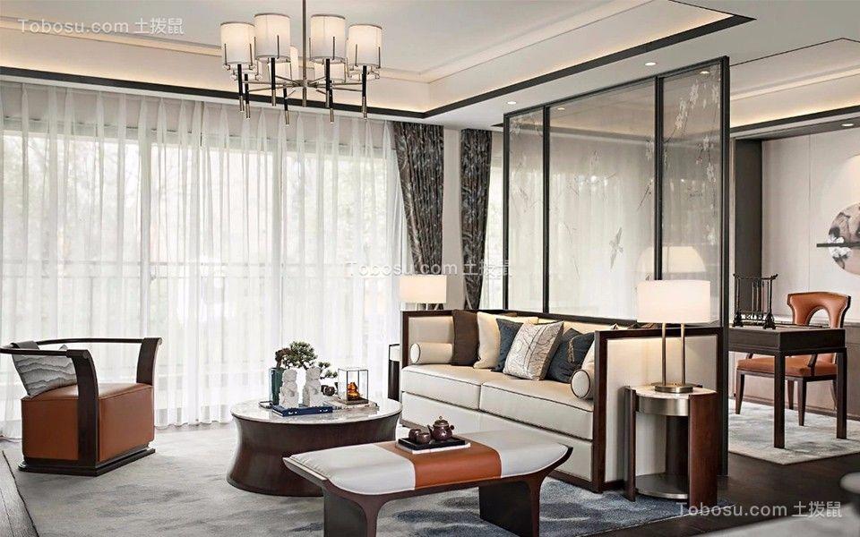 134平新中式风格三居室装修效果图